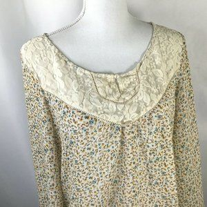 About a Girl~Lightly Sheer~Lace Yoke~Longer Back~